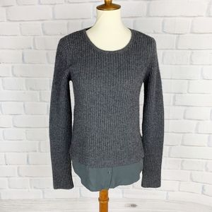 Joie Gray Knit Wool Cashmere Blend Sweater